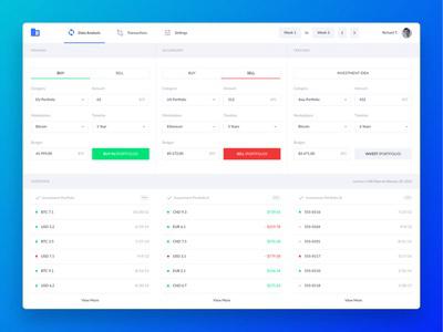 Crypto Dashboard UI  + 💎 Freebie