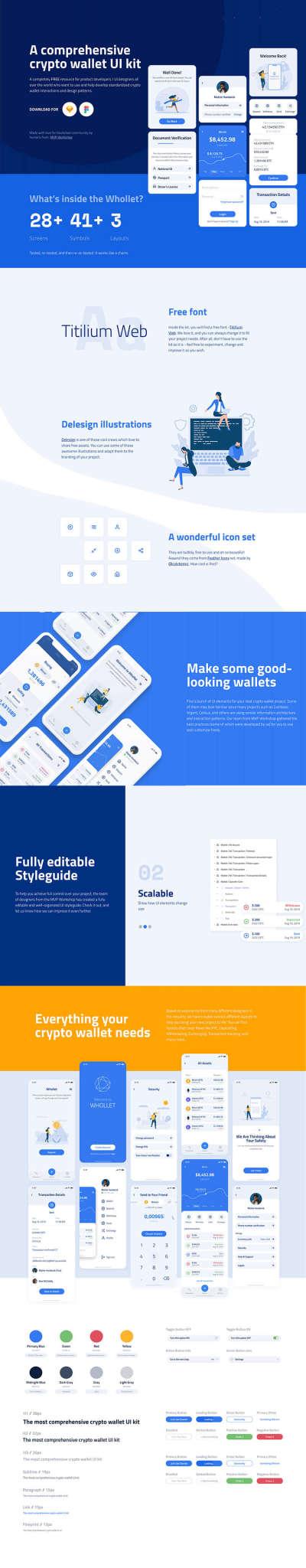 Crypto Wallet App Design