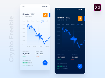 Crypto XD mobile app template