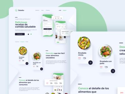 Daietto – Healthy food XD landing template