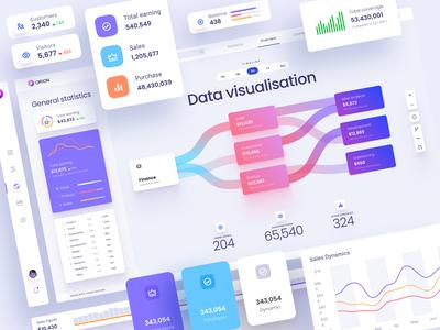 Dataviz dashboards and widget template