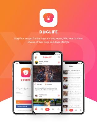 Doglife – A free UI kit for Adobe XD