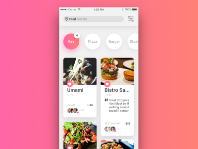 Restaurant List UI – Figma Freebie