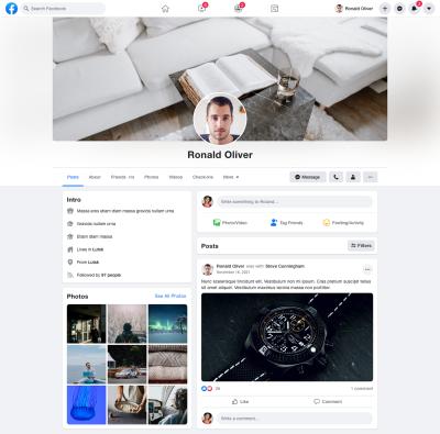 Facebook free XD mockup (dark & light)