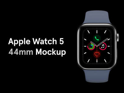 Apple Watch 5 44mm Mockup