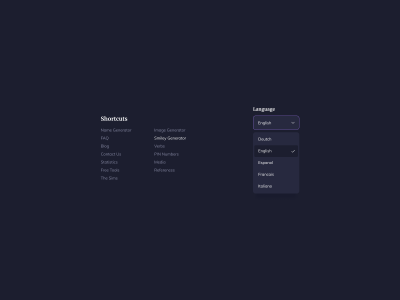 Dark Theme UI Components