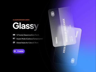Glassmorphism Cards