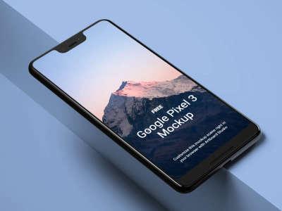 Google Pixel 3 Realistic Mockup