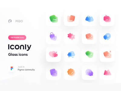 Iconly 2 – Glass Icons