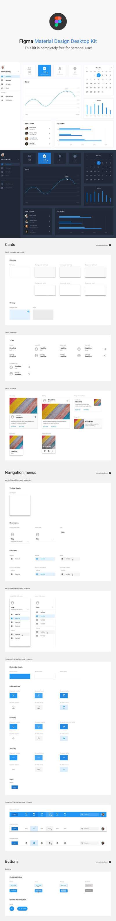Figma Material Design UI Kit