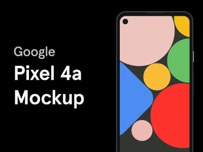 Google Pixel 4a Mockup