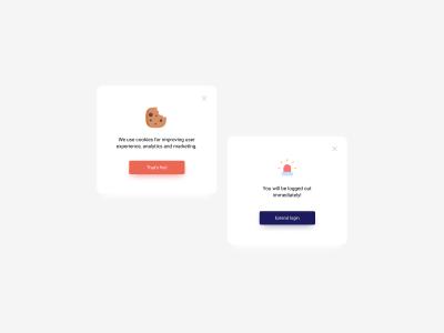 Pop Up UI Designs