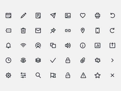UI Primitive Icons