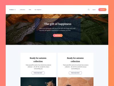 Webshop Landing Page