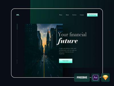 Financial website - freebie