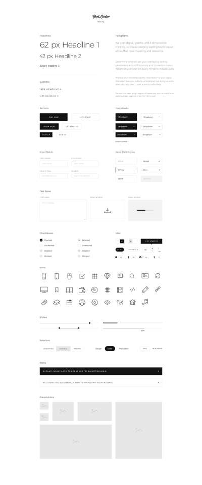 First Order Free UI Kit