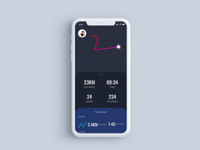Fitness app XD concept & interaction