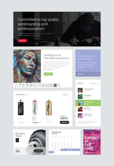 Flat Web Free UI Kit