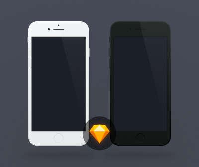 Flat iPhone 7 Mockups