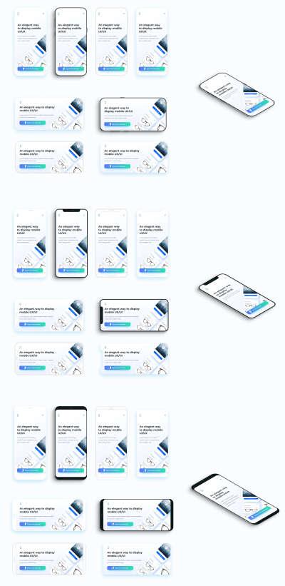 Flat Mobile Frames Mockups for Figma
