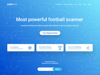 Football/soccer betting XD landing page