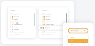 Form and UI components for XD
