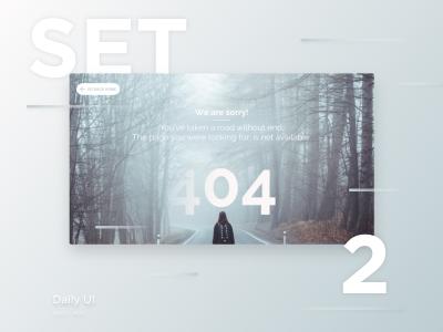 Free Daily UI XD – Set 2