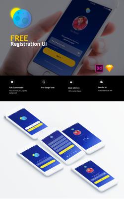 Free registration UI kit