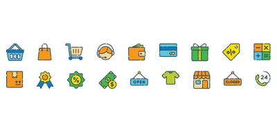 Free Shopping Icons for Adobe XD