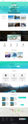 Free Travel website XD template