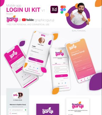 Free XD app login screen templates