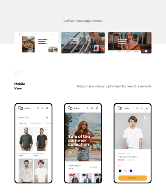 Free XD ecommerce UI kit by ICEO