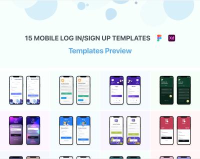 Free XD login/signup templates