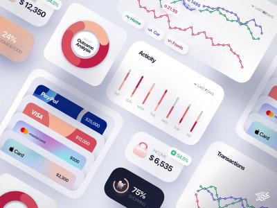 Freebie — Finance Interface Elements