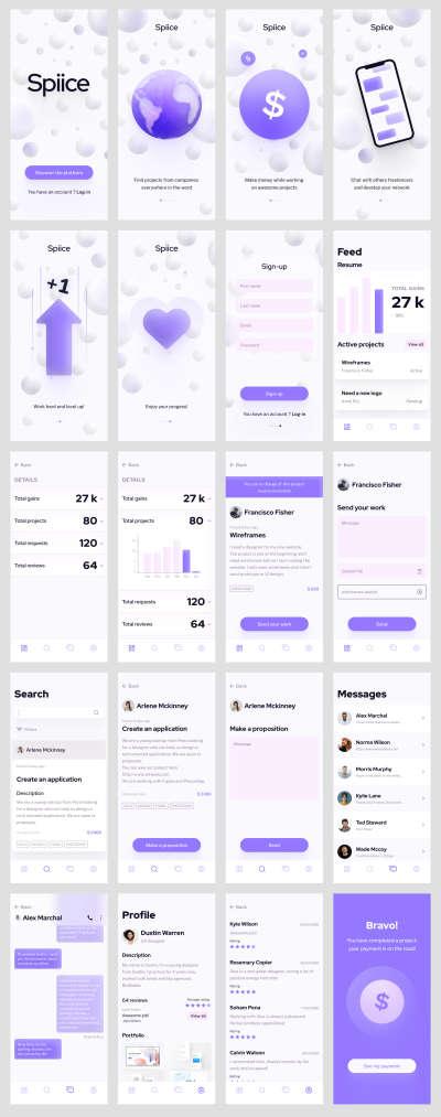 Freelance Platform UI Kit for Figma