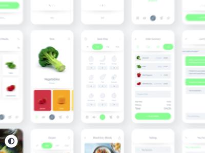 Fresh food – Free mobile XD UI Kit