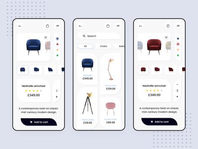 Furniture Store - App design