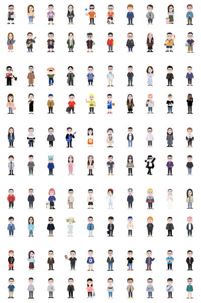 GEE! ME - 100 Illustration Characters for Figma