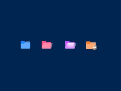 Glassy Effect Folder Icon