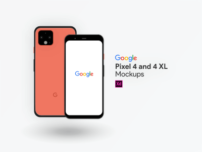 Google Pixel 4 and 4XL Mockups