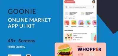 Goonie Online Market Free UI kit