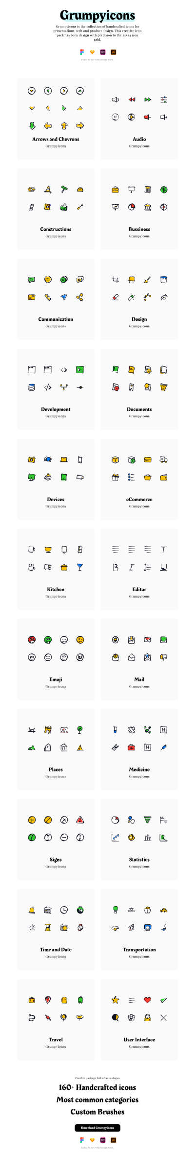 Grumpyicons Free Icons Pack for Figma