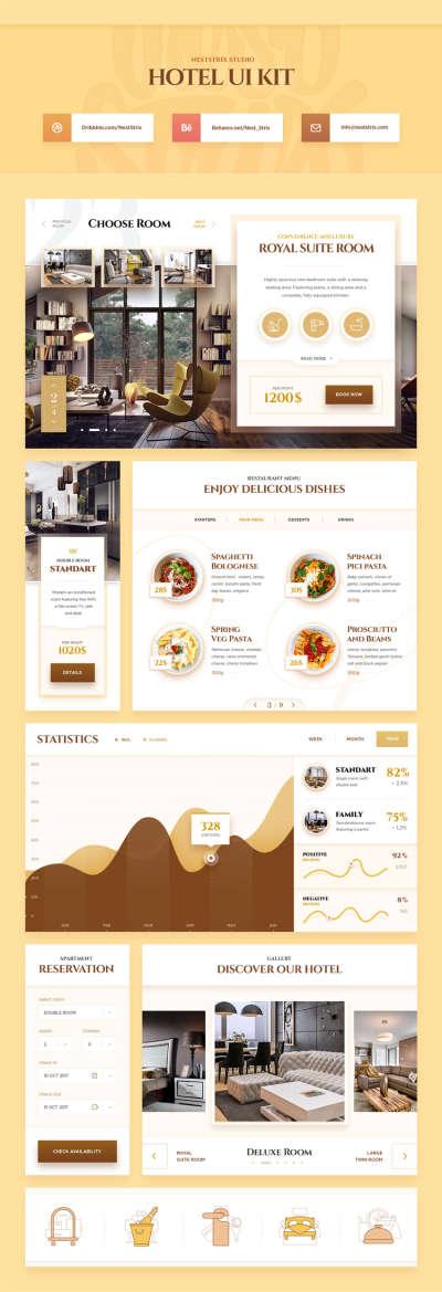 Luxury Hotel Web UI Kit