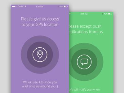 iOS mobile permission screens – Free .xd file