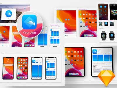iOS 13 App Icon Template