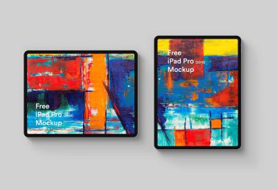 iPad Pro 2018 Vertical Mockup