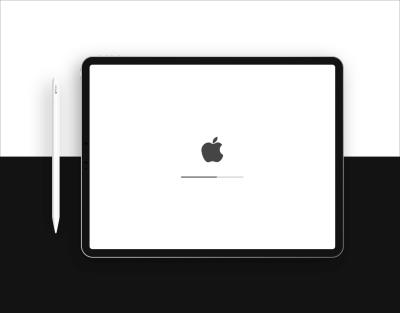 iPad Pro + Apple Pencil Black and White Mockup