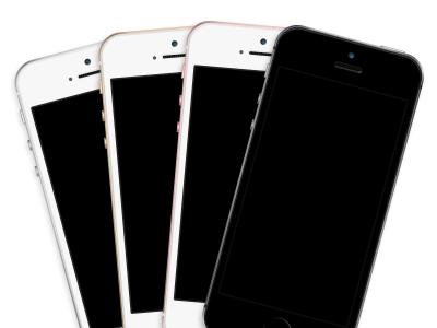 iPhone SE Template Mockup