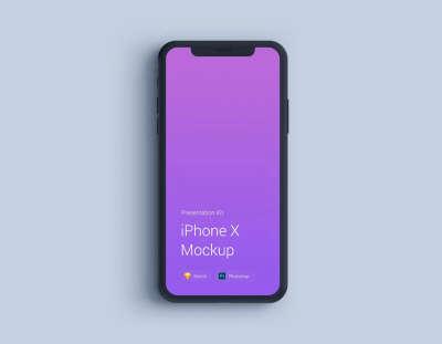 iPhone X Flat Black Mockup