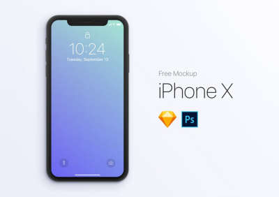 iPhone X Free Front Mockup